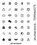 icon set for web design  vector