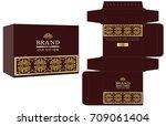 packaging design  gold luxury... | Shutterstock .eps vector #709061404