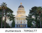 Sunset Shines On Top Dome Of...