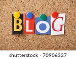 the word blog in cut out... | Shutterstock . vector #70906327