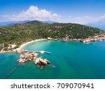 ngoc suong resort in cam ranh ... | Shutterstock . vector #709070941