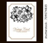 vintage delicate invitation... | Shutterstock .eps vector #709074835