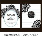 romantic invitation. wedding ... | Shutterstock .eps vector #709077187
