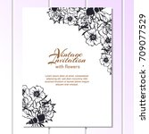 romantic invitation. wedding ... | Shutterstock . vector #709077529