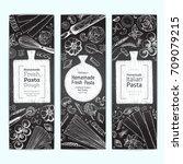 italian pasta vertical banner...   Shutterstock .eps vector #709079215