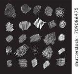 set of pencil effect doodles...   Shutterstock .eps vector #709086475