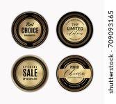luxury golden badge and labels... | Shutterstock .eps vector #709093165