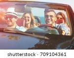 beautiful party friend girls...   Shutterstock . vector #709104361