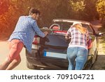 leisure  road trip  travel and... | Shutterstock . vector #709104721
