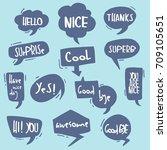 cartoon comic bubble  speech... | Shutterstock .eps vector #709105651