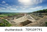 aerial view of opencast mining ... | Shutterstock . vector #709109791