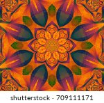 abstract illustration orange... | Shutterstock . vector #709111171