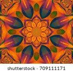 abstract illustration orange... | Shutterstock . vector #709111171