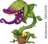 Cartoon Carnivorous Plant....