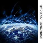 earth from space. best internet ...   Shutterstock . vector #709114231