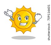 successful cute sun character... | Shutterstock .eps vector #709116601