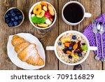 thanksgiving day breakfast....   Shutterstock . vector #709116829