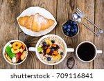 thanksgiving day breakfast.... | Shutterstock . vector #709116841