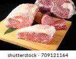 sirloin and tenderloin wagyu... | Shutterstock . vector #709121164