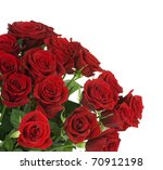 Stock photo big red roses bouquet border 70912198