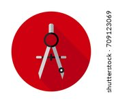 compass icon in flat style with ... | Shutterstock .eps vector #709123069