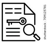 key wording vector icon   Shutterstock .eps vector #709125781