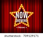 cinema movie concept light... | Shutterstock .eps vector #709129171