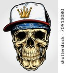 skull with bandanna and cap | Shutterstock .eps vector #70913080