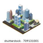city landscape construction... | Shutterstock .eps vector #709131001