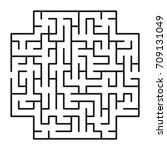 abstract maze   labyrinth with... | Shutterstock .eps vector #709131049