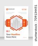 annual report  broshure  flyer  ... | Shutterstock .eps vector #709134451