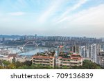 panoramic view of cityscape... | Shutterstock . vector #709136839