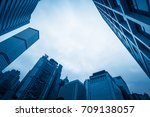 skyscraper from a low angle... | Shutterstock . vector #709138057