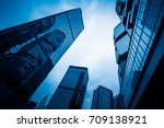 skyscraper from a low angle... | Shutterstock . vector #709138921