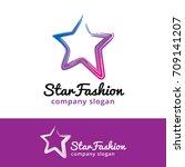 star logo template design... | Shutterstock .eps vector #709141207