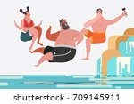 cartoon character design... | Shutterstock .eps vector #709145911