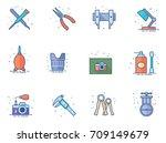 camera repair tool icons in...   Shutterstock .eps vector #709149679