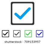 checkbox vector pictogram....