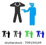 arrest vector pictogram. style... | Shutterstock .eps vector #709154149