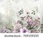 abstract colorful flowers... | Shutterstock . vector #709159255