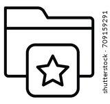 favorite folder vector icon | Shutterstock .eps vector #709159291