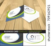 business card template.... | Shutterstock .eps vector #709162921
