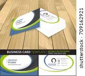 business card template.... | Shutterstock .eps vector #709162921