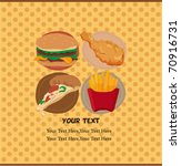 fast food card | Shutterstock .eps vector #70916731