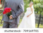 wedding day | Shutterstock . vector #709169701
