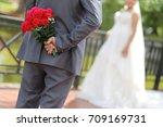 wedding day | Shutterstock . vector #709169731