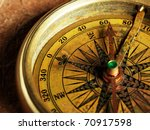 close up view of compass on... | Shutterstock . vector #70917598