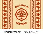 welcome to hawaii background in ... | Shutterstock .eps vector #709178071