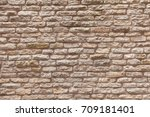 old brick wall  old texture of... | Shutterstock . vector #709181401