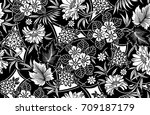 indian motif vector | Shutterstock .eps vector #709187179